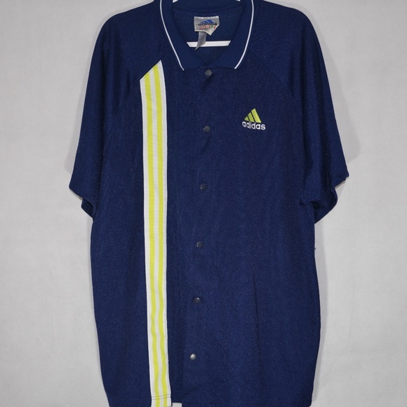 1665c7df4743 adidas Other - Vintage Adidas Basketball Warm-Up Button-Up Jersey